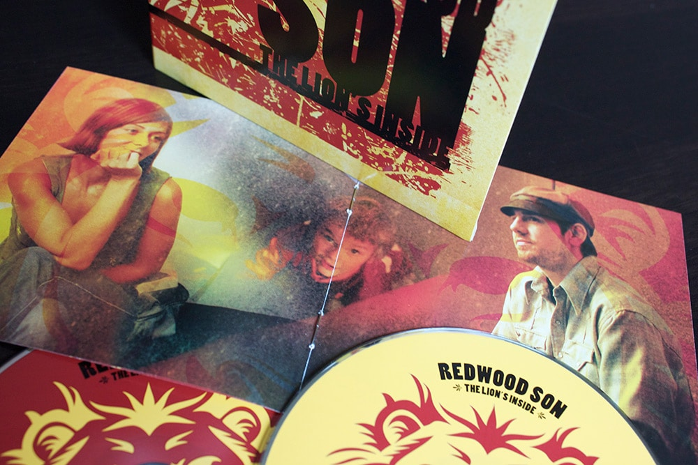 CD booklet interior we photographed for and designed for Redwood Son