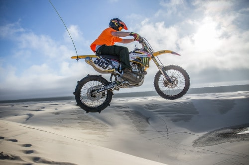 Oregon Dunes Motorcycle Jump from Torex ATV Rentals Shoot