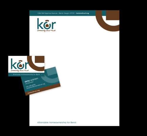 Kôr ID Package - Business Cards and Letterhead
